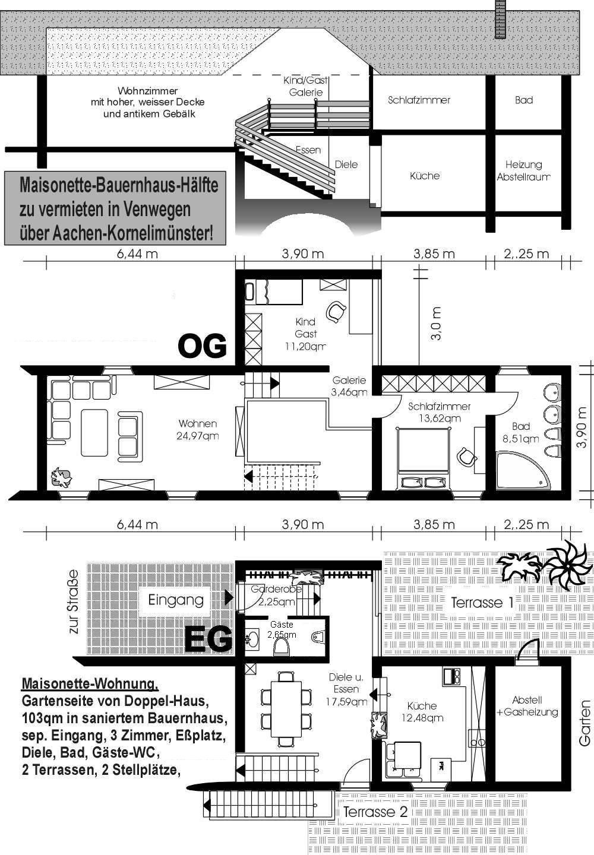 Historisches bauernhaus mit attraktiver maisonette for Wohnung mieten von privat ohne provision